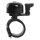 Fahrradglocke Mini Glocke Alu mit Kabelbinderklemme, auch für Maxirohre
