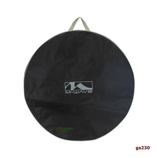 Fahrrad Laufradtasche, XL Reissverschluss schwarz/silber 71,5 cm M-WAVE