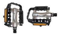 Fahrradpedal MTB Alu/Stahl Pedal mit Reflektor und...