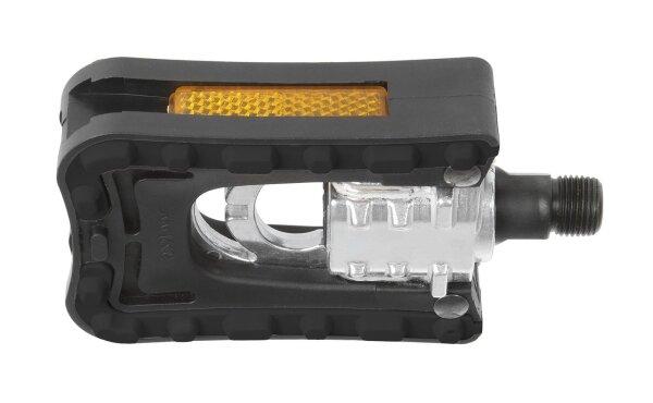 Faltpedal Alu/Kunststoffkörper schwarz CrMo-Achse, 300g/Paar beidseitig, Prüfnr