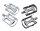 Fahrradpedal MTB Alu, CRMO Achse silber oder schwarz, gedichtet, verchromt