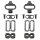 Fahrradpedal Schuhplattenset ein kompatibles Set für alle SPD Pedale EXUSTAR