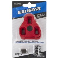 Schuhplattenset für Klickpedale EXUSTAR & LOOK kompatibel rot E-ARC10 7°