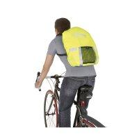 Regenhaube Rucksack mit Reflexstreifen/Reflektoren Maastricht Protect neongelb