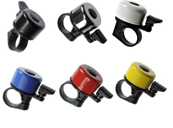 Miniglocken Fahrrad Stahl 5 Farben zur Auswahl, metrische Schraube, 20 g