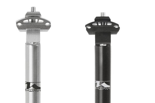 Fahrrad Patent Sattelstütze M-WAVE Alu silber & schwarz 25,4+27,2+28,6 x 350 mm