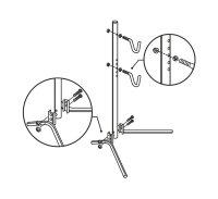 Ausstellungsständer Reparaturständer Hinterbau für 12-29 Räder Stahl zerlegbar