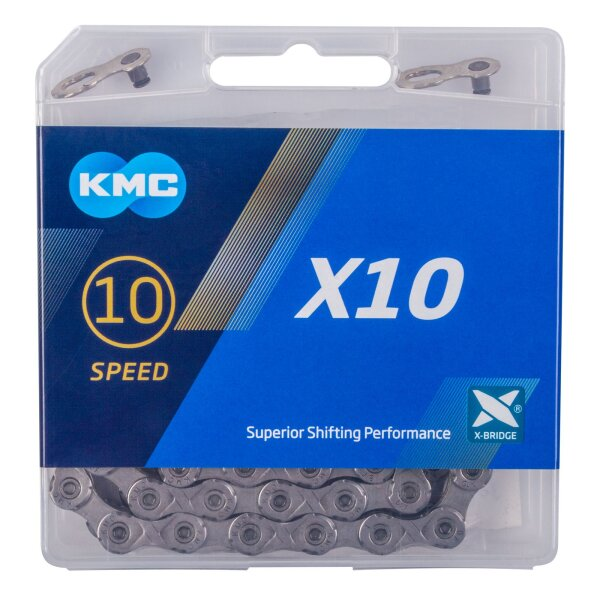 Fahrradkette KMC X10, verschleißfeste Schaltungskette, super Schaltverhalten