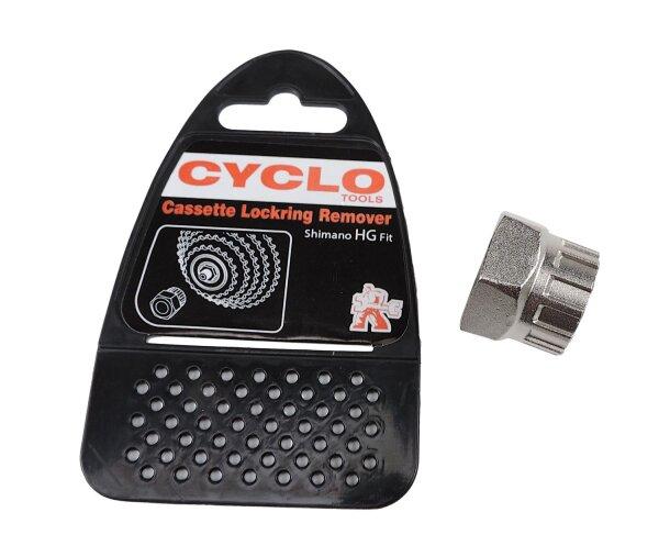 Fahrradwerkzeug CYCLO TOOLS Abzieher für Kassetten-Zahnkranz Shimano HG