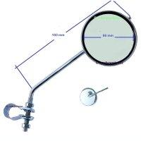 Spiegel Fahrrad Rückspiegel 75 mm 220 mm lang sehr...