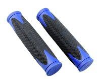 Griffige Fahrrad Lenkergriffe Zweikomponenten VELO D2, schwarz/blau 130 mm