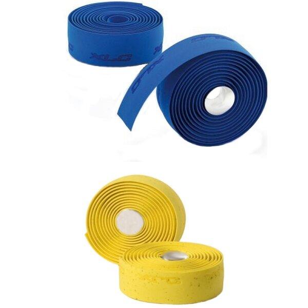 Fahrrad Lenkerband XLC griffig und weich Gel Kork-Style blau oder gelb