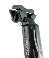 Carbon Sattelstütze Promax 400x31,6 mm extra leicht +  lang 1-Schraubbefestigung